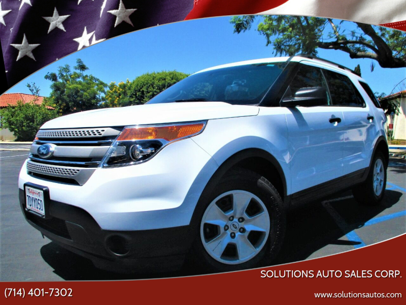 2014 Ford Explorer for sale at Solutions Auto Sales Corp. in Orange CA