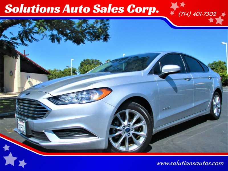 2017 Ford Fusion Hybrid for sale at Solutions Auto Sales Corp. in Orange CA