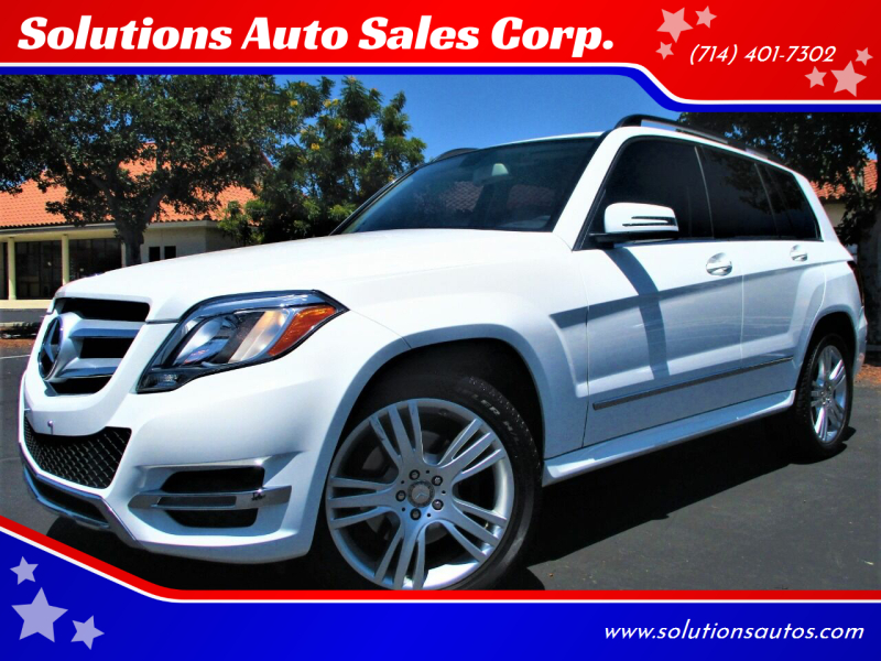 2015 Mercedes-Benz GLK for sale at Solutions Auto Sales Corp. in Orange CA
