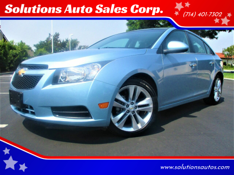 2011 Chevrolet Cruze for sale at Solutions Auto Sales Corp. in Orange CA