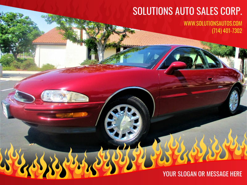 1995 Buick Riviera for sale at Solutions Auto Sales Corp. in Orange CA