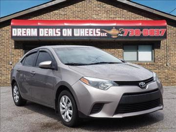 2014 Toyota Corolla for sale at Dream Deals on Wheels in Bridgeport OH