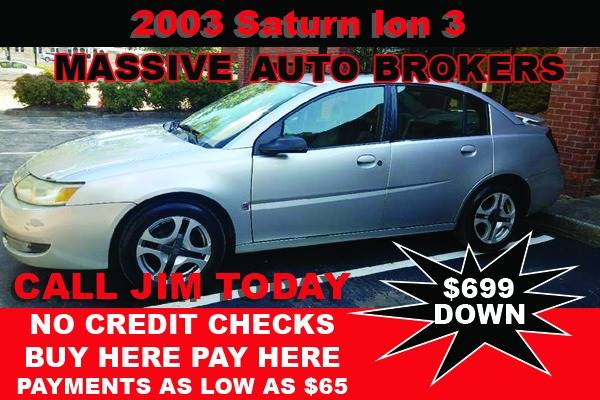 2003 Saturn Ion for sale at BUY HERE PAY HERE AT  MASSIVE AUTO BROKERS in Atlanta GA