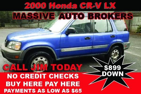 2000 Honda CR-V for sale at BUY HERE PAY HERE AT  MASSIVE AUTO BROKERS in Atlanta GA