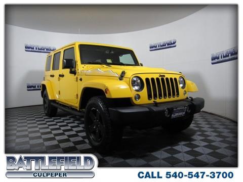 2015 Jeep Wrangler Unlimited for sale in Culpeper VA