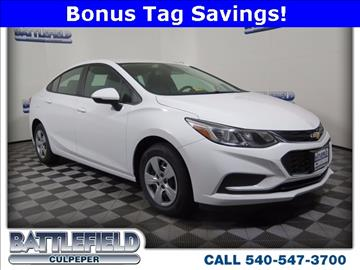 2017 Chevrolet Cruze for sale in Culpeper, VA