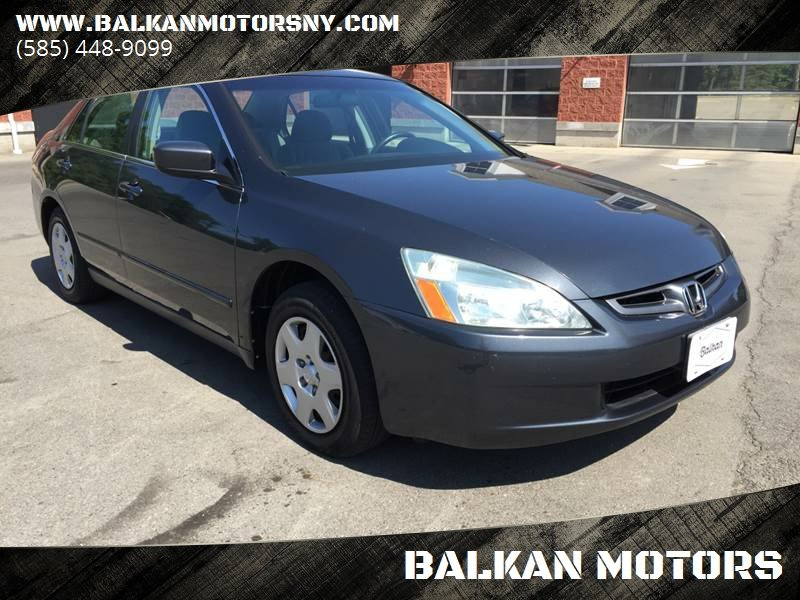2005 Honda Accord For Sale At BALKAN MOTORS In East Rochester NY