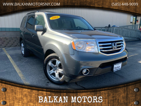 2012 Honda Pilot for sale at BALKAN MOTORS in East Rochester NY