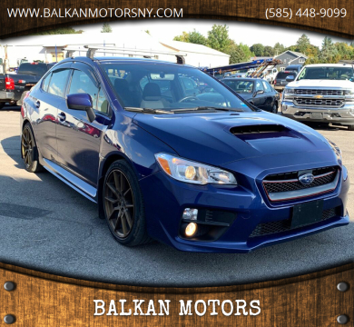 2017 Subaru WRX for sale at BALKAN MOTORS in East Rochester NY