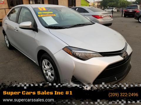 2017 Toyota Corolla for sale at Super Cars Sales Inc #1 - Super Auto Sales Inc #2 in Modesto CA