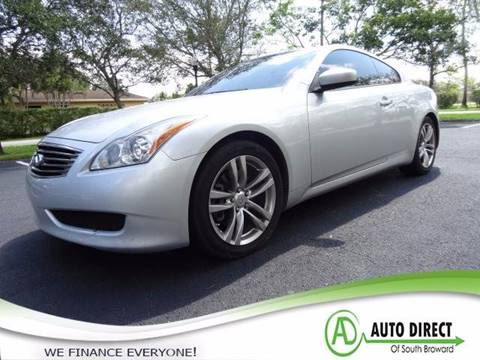 2009 Infiniti G37 Coupe for sale in Miramar, FL