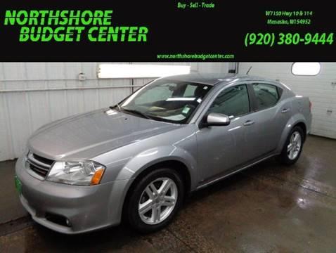 2013 Dodge Avenger for sale at Northshore Budget Center, LLC in Menasha WI