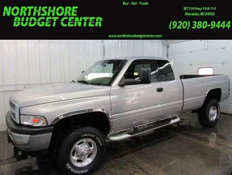2001 Dodge Ram Pickup 2500 for sale at Northshore Budget Center, LLC in Menasha WI