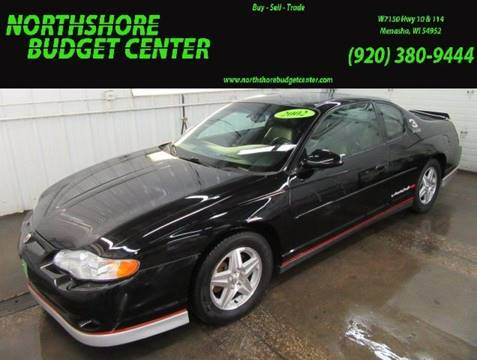 2002 Chevrolet Monte Carlo for sale at Northshore Budget Center, LLC in Menasha WI