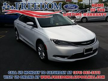 2015 Chrysler 200 for sale in Pounding Mill, VA