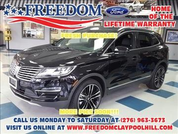 2017 Lincoln MKC for sale in Pounding Mill, VA