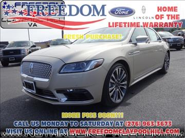 2017 Lincoln Continental for sale in Pounding Mill, VA