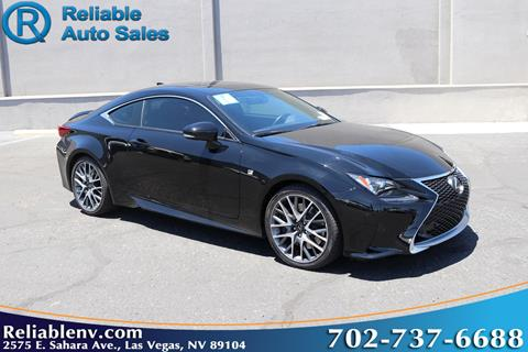 2016 Lexus RC 200t for sale in Las Vegas, NV