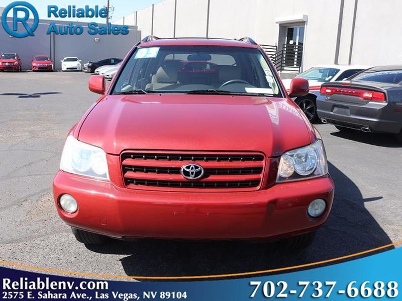 2003 Toyota Highlander   Las Vegas NV