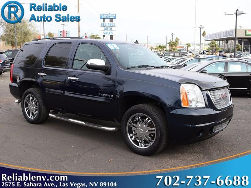 2008 gmc yukon 4x2 sle 1 4dr suv in las vegas nv reliable auto sales. Black Bedroom Furniture Sets. Home Design Ideas