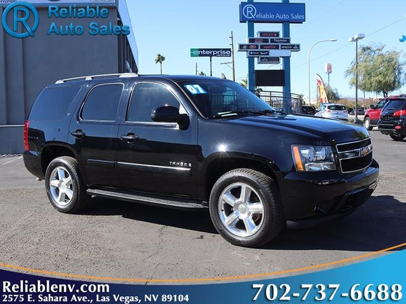 2007 chevrolet tahoe lt 4dr suv in las vegas nv reliable auto sales. Black Bedroom Furniture Sets. Home Design Ideas