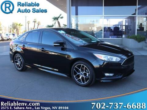 2016 Ford Focus for sale at Reliable Auto Sales in Las Vegas NV