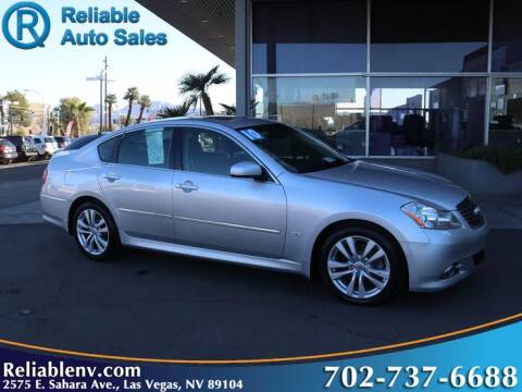 2010 Infiniti M35 for sale at Reliable Auto Sales in Las Vegas NV