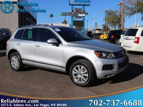 2013 Volkswagen Touareg for sale at Reliable Auto Sales in Las Vegas NV
