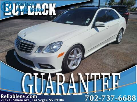 2011 Mercedes-Benz E-Class for sale at Reliable Auto Sales in Las Vegas NV