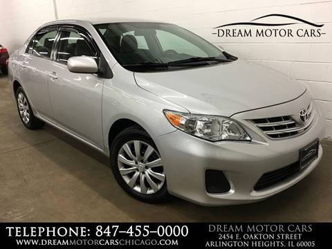 2013 Toyota Corolla for sale at Dream Motor Cars in Arlington Heights IL