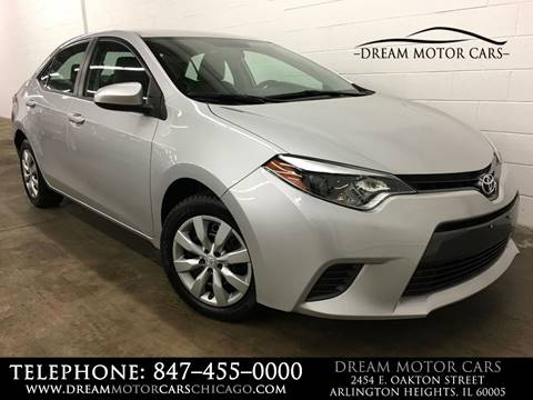 2015 Toyota Corolla for sale at Dream Motor Cars in Arlington Heights IL