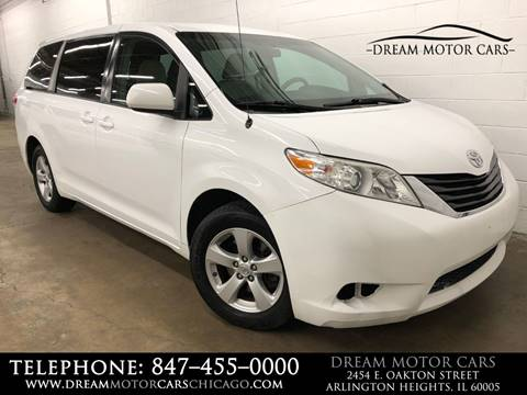 2012 Toyota Sienna for sale at Dream Motor Cars in Arlington Heights IL