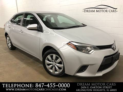 2016 Toyota Corolla for sale at Dream Motor Cars in Arlington Heights IL