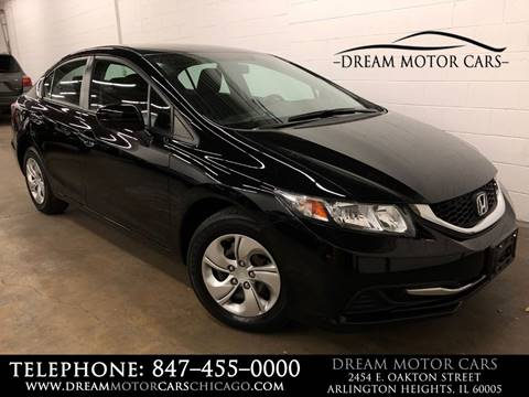 2015 Honda Civic for sale at Dream Motor Cars in Arlington Heights IL