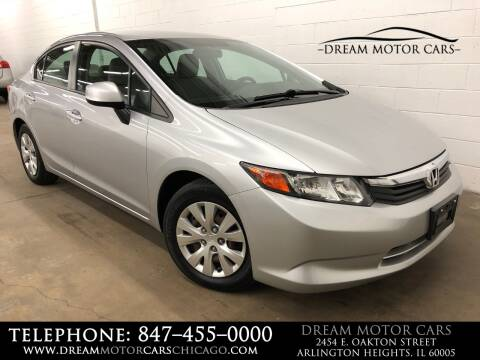 2012 Honda Civic for sale at Dream Motor Cars in Arlington Heights IL
