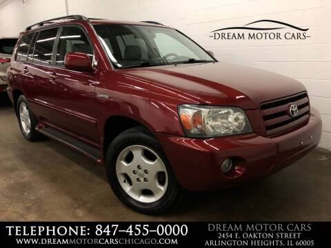2005 Toyota Highlander for sale at Dream Motor Cars in Arlington Heights IL