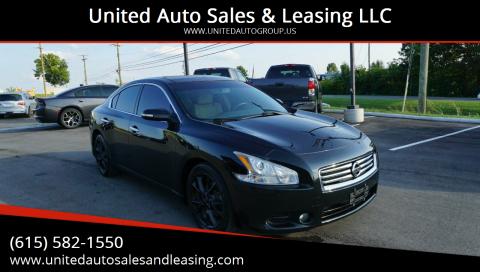 2014 Nissan Maxima for sale at United Auto Sales & Leasing LLC in La Vergne TN