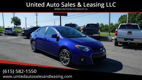 2016 Toyota Corolla for sale at United Auto Sales & Leasing LLC in La Vergne TN