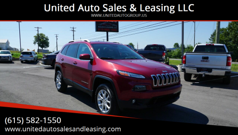 2015 Jeep Cherokee for sale at United Auto Sales & Leasing LLC in La Vergne TN