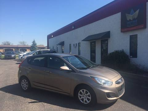 2012 Hyundai Accent for sale at METRO AUTO SALES LLC in Blaine MN
