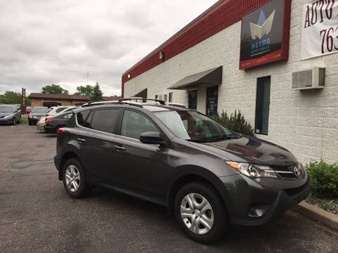 2013 Toyota RAV4 for sale at METRO AUTO SALES LLC in Blaine MN