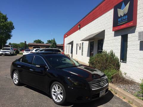 2009 Nissan Maxima for sale at METRO AUTO SALES LLC in Blaine MN