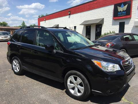 2015 Subaru Forester for sale at METRO AUTO SALES LLC in Blaine MN