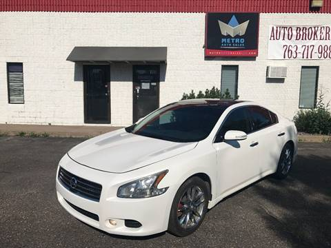 2010 Nissan Maxima for sale at METRO AUTO SALES LLC in Blaine MN