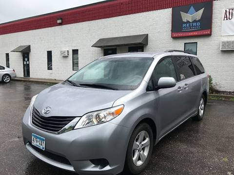 2011 Toyota Sienna for sale at METRO AUTO SALES LLC in Blaine MN