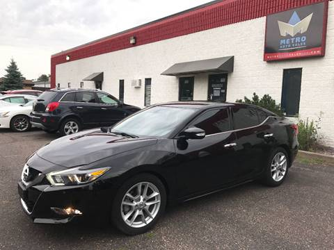 2016 Nissan Maxima for sale at METRO AUTO SALES LLC in Blaine MN