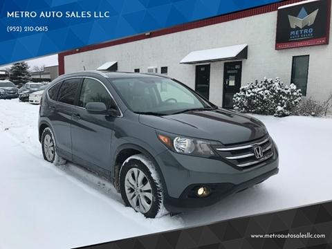 2012 Honda CR-V for sale at METRO AUTO SALES LLC in Blaine MN