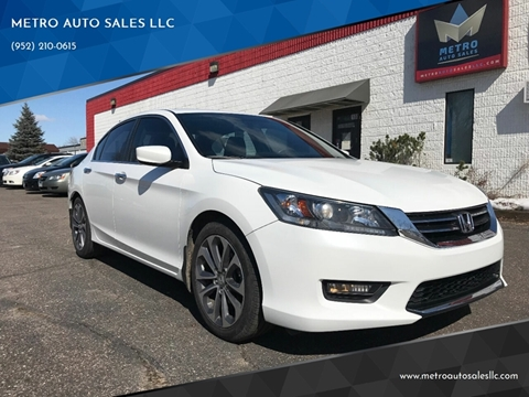 2014 Honda Accord for sale at METRO AUTO SALES LLC in Blaine MN