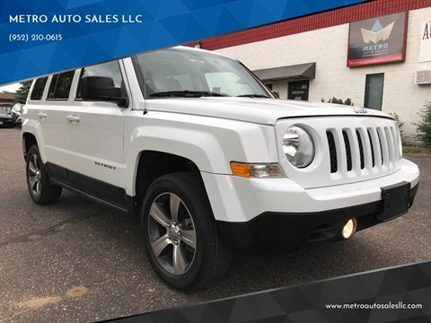 2016 Jeep Patriot for sale at METRO AUTO SALES LLC in Blaine MN