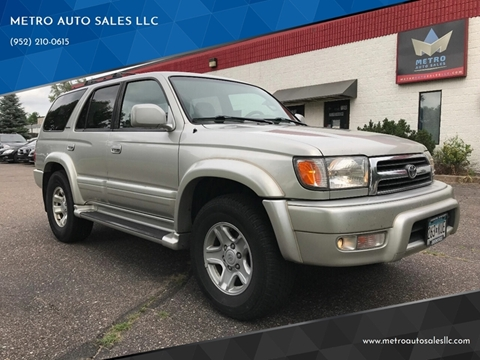 2000 Toyota 4Runner for sale at METRO AUTO SALES LLC in Blaine MN